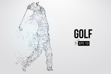 Silhouette of a golf player. Vector illustration Archivio Fotografico - 103083629
