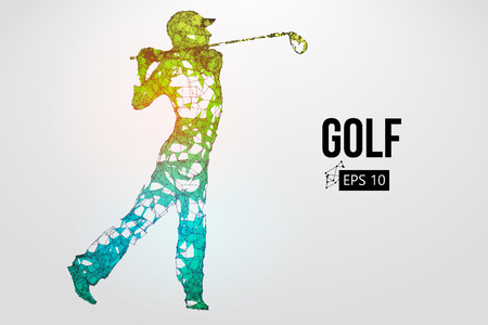 Silhouette of a golf player. Vector illustration Фото со стока - 103110788