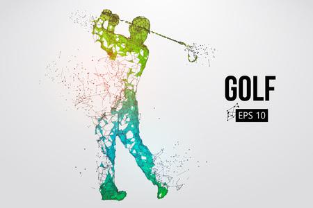 Silhouet van een golfspeler. Vector illustratie Vector Illustratie