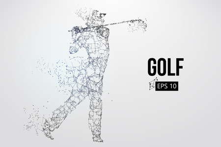 Silhouette of a golf player. Vector illustration Standard-Bild - 103176850