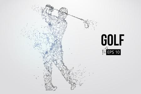 Silhouette eines Golfspielers. Vektorillustration Vektorgrafik