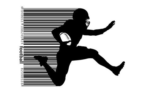 Silueta de un jugador de fútbol . ilustración vectorial Foto de archivo - 106026219