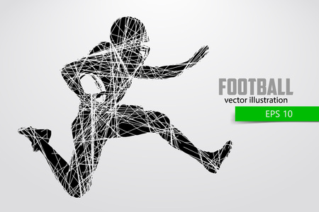 Silhouette of a football player. Vector illustration Stock Vector - 106026220