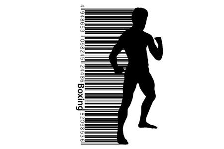 Boxing silhouette. Boxing. Vector illustration Illustration
