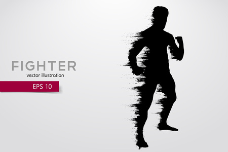 Boxing silhouette. Boxing. Vector illustration Illustration