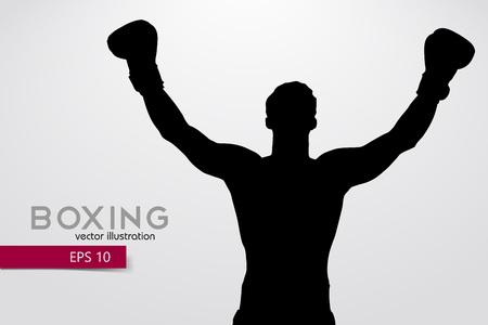 Sagoma di boxe. Boxe. Illustrazione vettoriale