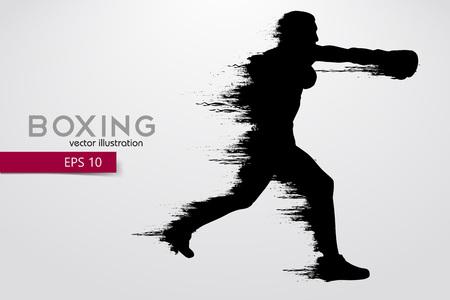 Silueta de boxeo. Boxeo. Ilustración vectorial