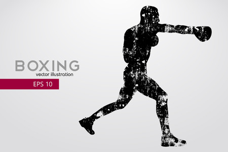 Boxing silhouette. Boxing. Vector illustration Stok Fotoğraf