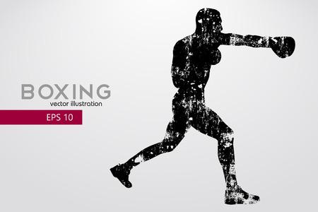 Boxing silhouette. Boxing. Vector illustration Stock fotó