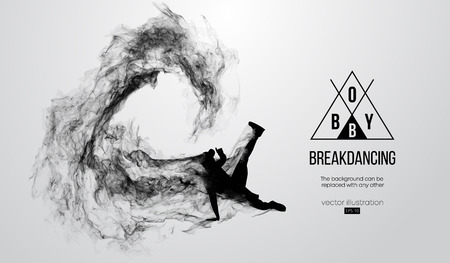 silhouette of a breakdancer, man, breaker breaking