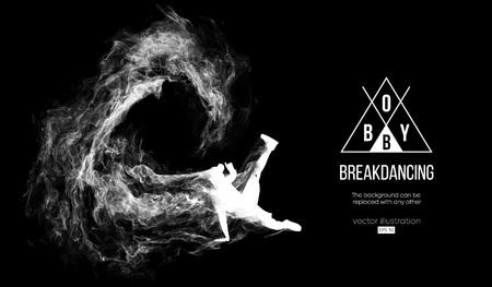 silhouette of a breakdancer, man, breaker breaking