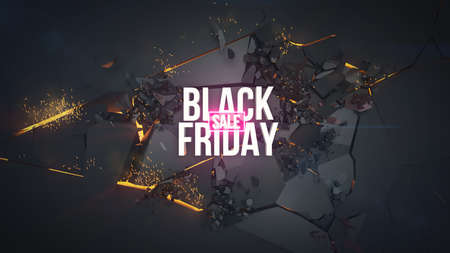 Black Friday sale, discount. 3d render illustration. If you have any questions do not hesitate to write me