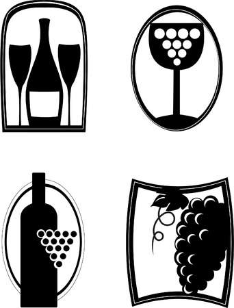 Logo emblem for your business (white background) Vector illustration Vector