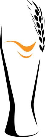 irland: Bier vor wei�en Hintergrund. Element f�r Design-Vektor-Abbildung