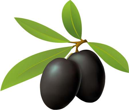 black dish: olives