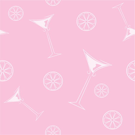 Pink background with element for design vector illustration Vector