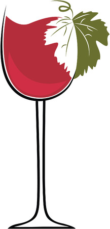 vines: Glasses with wine on a white background