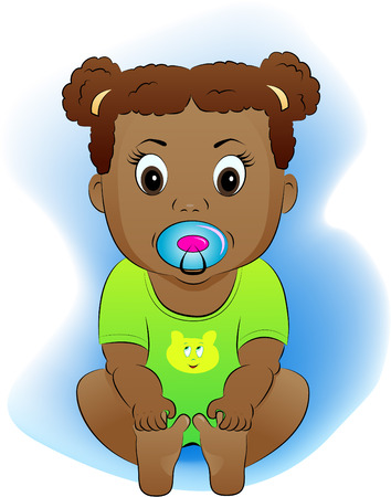only baby girls: The child with a babys dummy