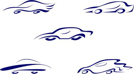 Cars on a white background. Element for design illustration. Stock Vector - 6011307