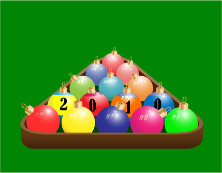 Christmas ball in the form of a pool Stock Vector - 6016950