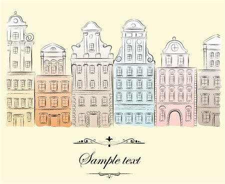 Historical buildings.  Vector