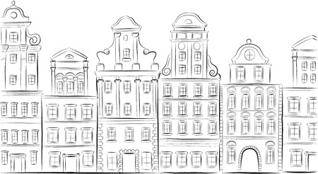 old building facade: Historical buildings.