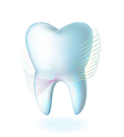 whiten: Tooth on a white background Illustration