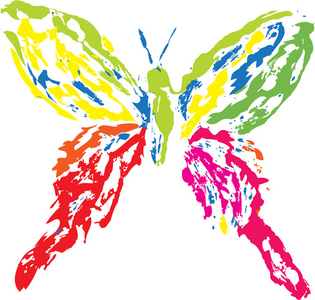 Colorful butterfly on a white background Stock Vector - 6698322