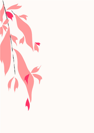 Pink abstract background with a tree branch Stock Vector - 6793183