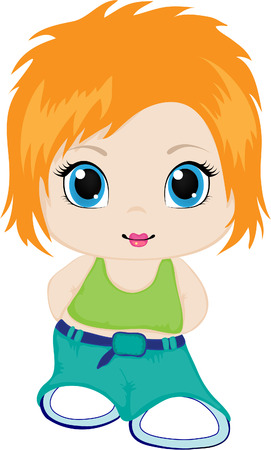 Little girl. Stock Vector - 6991325