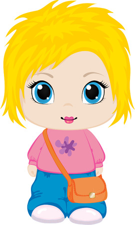 Little girl.   Stock Vector - 6991324