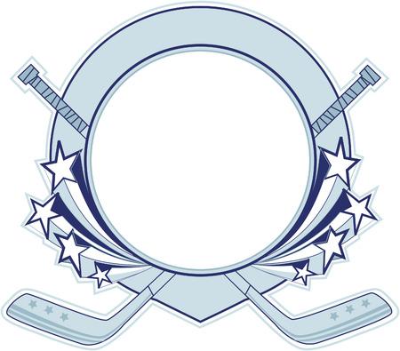 ordinateur logo: Banni�re de hockey.