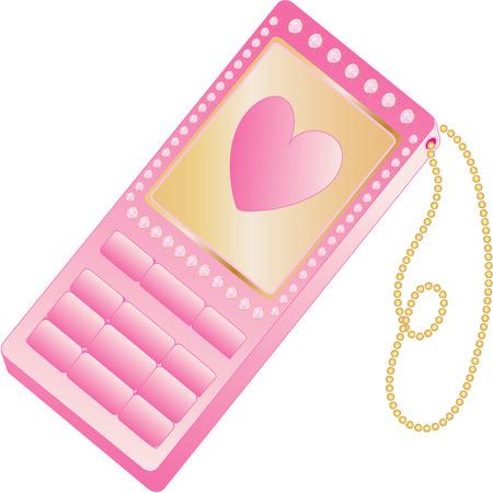 Pink female phone. Ilustração