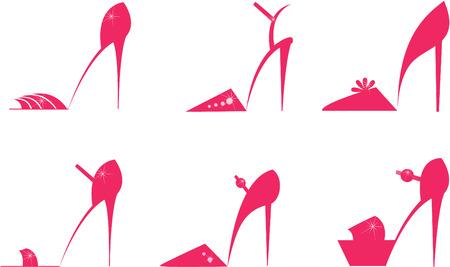 stilettos: Set of female shoes.