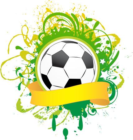 dirty football: Vector football banner.