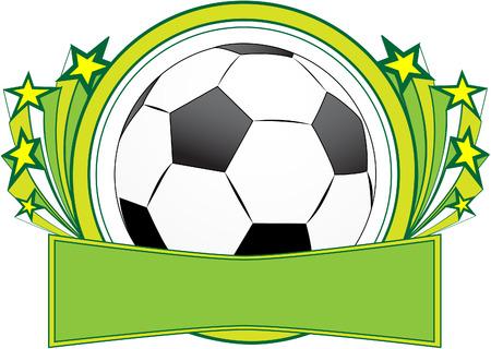 Vector football banner. Vector