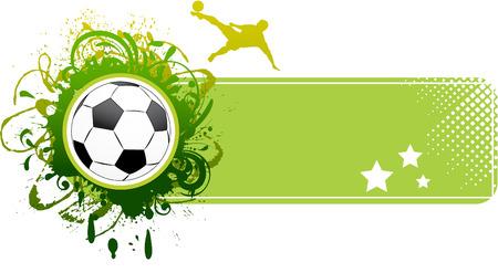 football players: Banner de f�tbol de vector.