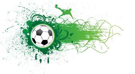 soccer background: football banner.