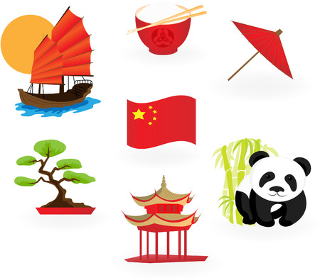 Chinese  icons. Stock Vector - 7754666