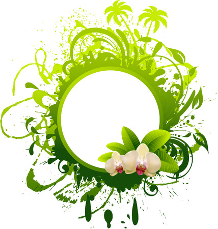 Banner with orchid. Stock Vector - 7754679