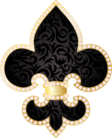 Fleur de lis illustration Stock Vector - 8022777