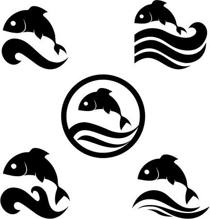 illustratie van een vis - misschien leuk als onderdeel van een logo voor iemand.