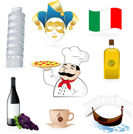 Italy icons Stock Vector - 8330678