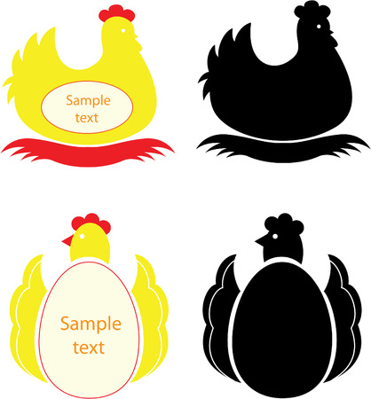 Chickens. Vector