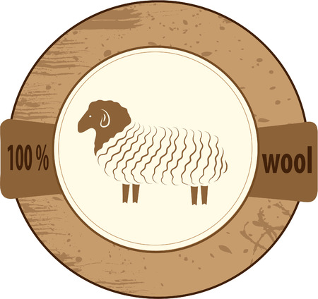 Stamp lists for products from wool. Vector