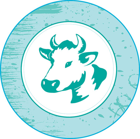 beef cattle: Icon of a cow Illustration