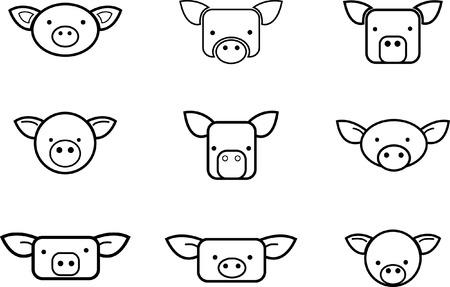 Pigs. Stock Vector - 8702718