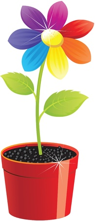 Flower in a pot. Stock Vector - 9317086