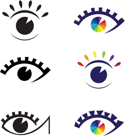 Icons of eyes.  Vector