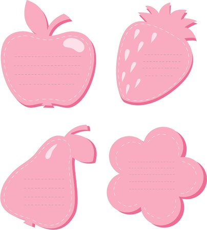 Frames in the form of fruit and a flower. Vector
